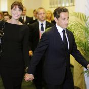 L'élégante Carla Bruni ose la hauteur au côté de Nicolas Sarkozy et son fils Louis !