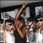Naomi Campbell a pris dans ses filets le beau Didier Drogba pour célébrer la mode !