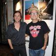 Thomas Dutronc et Sanseverino lors du 25e anniversaire de Reporters sans Frontières à l'Hôtel de Ville à Paris le 23 septembre 2010
