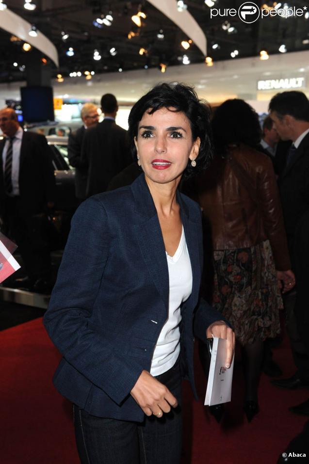 Rachida Dati à l'occasion de l'inauguration du Mondial de l'Automobile 2010, à Paris, le 30 septembre 2010.