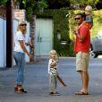 Naomi Watts, Liev Schreiber et leurs enfants Sasha et Samuel Kai