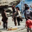 Des images du tournage de  Pirates des Caraïbes - La Fontaine de Jouvence , qui se tourne actuellement au Studios Pinewood, dans la banlieue de Londres, octobre 2010.