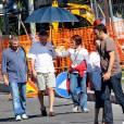 Robert de Niro sur le tournage de  Leçons d'amour à l'italienne 3 , à Rome, en Italie, le 30 septembre 2010.