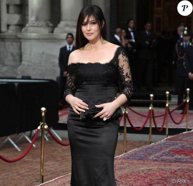 Monica Bellucci tourne durant l'automne 2010 Leçons d'amour à l'italienne 3, à Rome, en Italie.