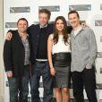 Scott Franklin, Vincent Cassel, Mila Kunis et Darren Aronofsky, à l'occasion de la présentation de  Black Swan , dans le cadre du London Film Festival, au Berkeley Hotel, à Londres, le 22 octobre 2010.