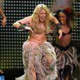 Shakira ennuyée par une fan lors de son concert à San Diego, le 15 octobre 2010