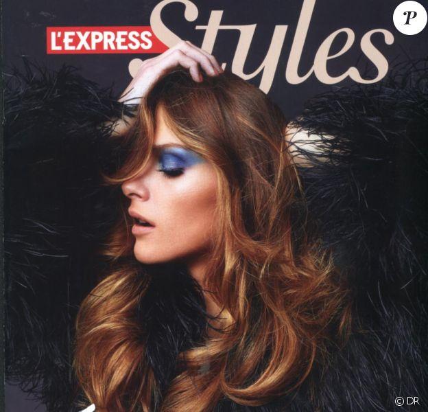 Elisa Sednaoui en couverture de L'Express Styles