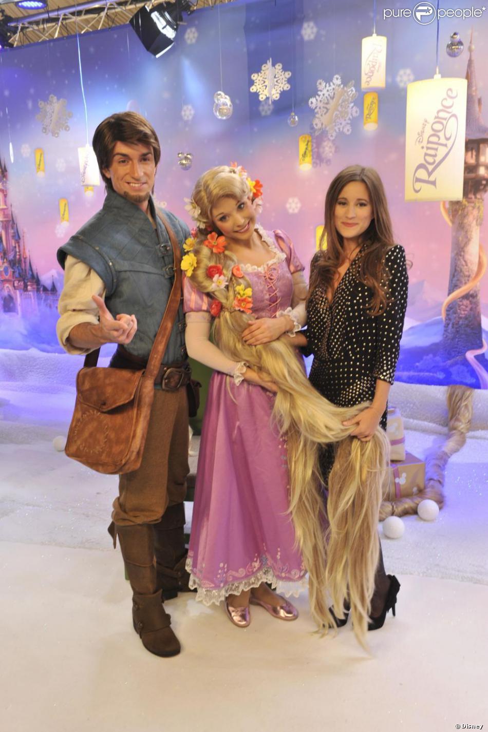 Les personnages flynn et raiponce avec maeva m line lors - Le mariage de raiponse ...