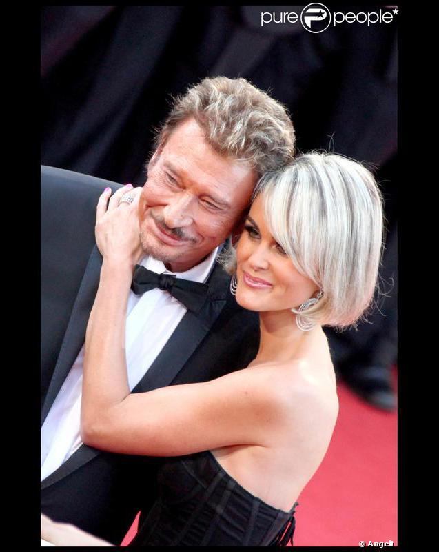 Johnny et Laeticia Hallyday lors du festival de Cannes en 2009