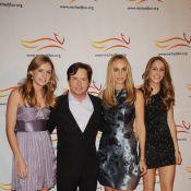 Michael J. Fox, avec ses ravissantes filles et sa femme, pour son grand combat !