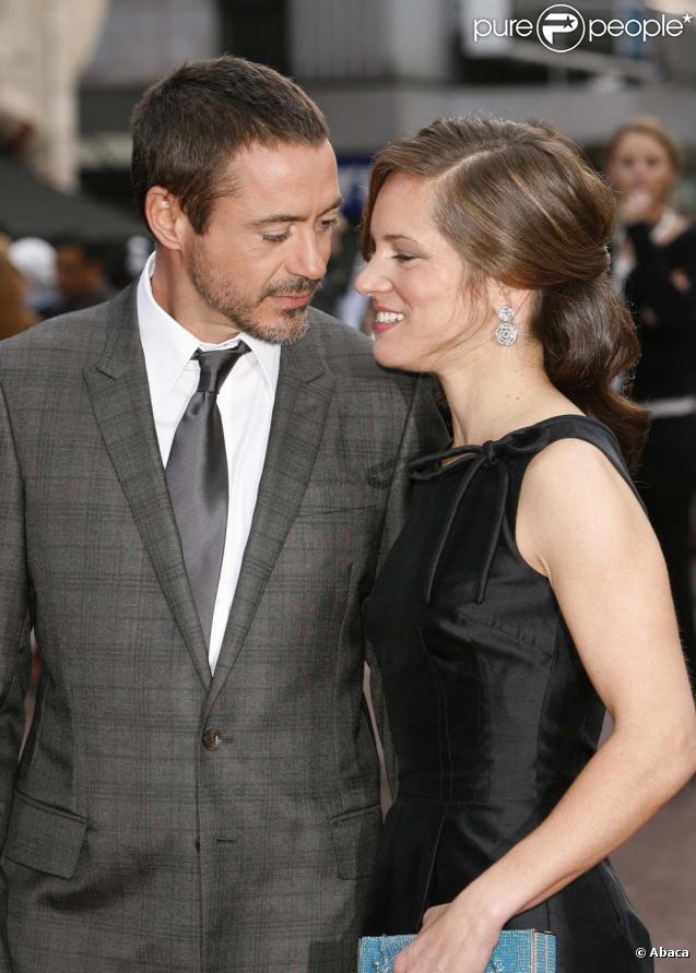 Robert Downey Jr. et Susan, avant-première de  Iron Man , Londres, le 24 avril 2008