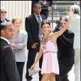 Eva Longoria en robe Chanel à Paris le 6 juillet 2007.