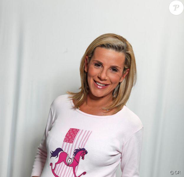 Laurence Ferrari s'engage pour l'association Laurette Fugain aux côtés du Prix d'Amérique Marionnaud 2011. A l'époque du shooting, elle était enceinte de son troisième enfant.
