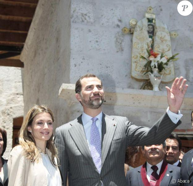 Letizia d'Espagne et Felipe d'Espagne en visite officielle au Pérou, le 25 novembre 2010.