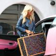 Paris Hilton tourne sa nouvelle télé-réalité à Los Angeles, mardi 23 novembre.