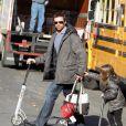 Hugh Jackman en famille le 28 novembre 2010.