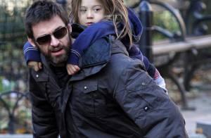 Hugh Jackman : Toujours papa-poule avec sa fille...