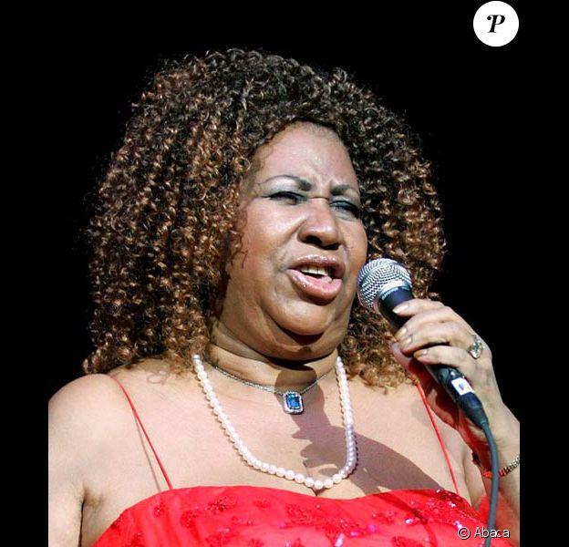 Aretha Franklin en concert en Floride en mars 2010