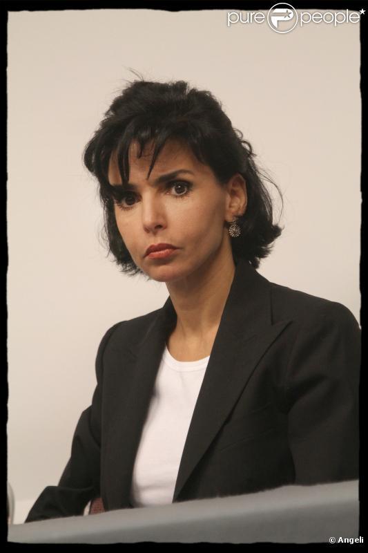 Rachida Dati, le 13 octobre 2010, lors d'une réunion au Musée Social.