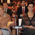Christine Ockrent et Farida Khelfa, visite oficielle en Inde, Bangalore, le 4 décembre 2010