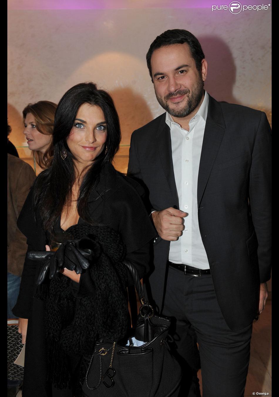 Pauline delpech et bruce toussaint lors de la soir e du lancement de la collection ladymatic de - Thierry beccaro pauline beccaro ...