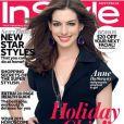 Anne Hathaway en couverture du magazine In Style Australie du mois de janvier 2011.