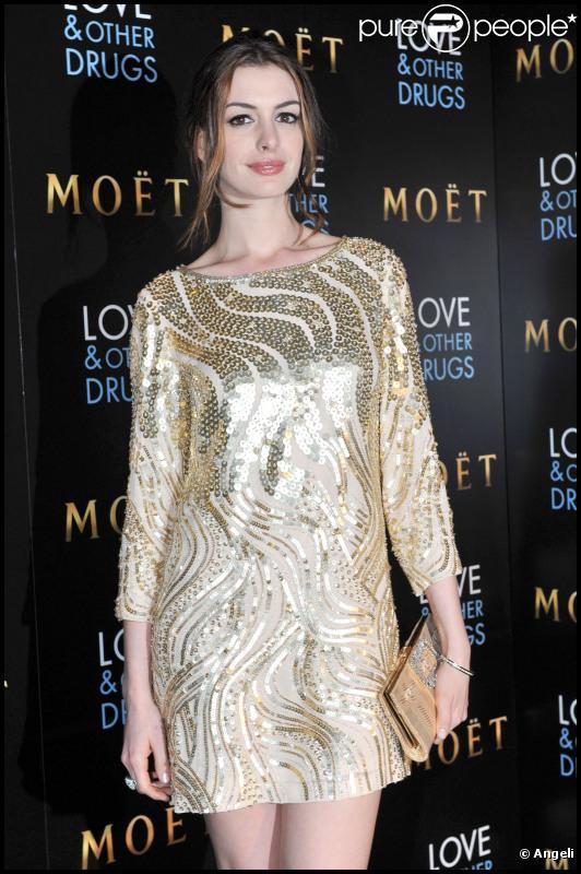 Anne Hathaway à la première du film Love and other drugs à Sydney, le 6 décembre 2010.