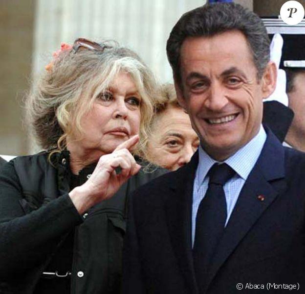 Brigitte Bardot écrit à Nicolas Sarkozy contre l'abattage rituel des animaux, le 15 décembre 2010 (Montage photo)