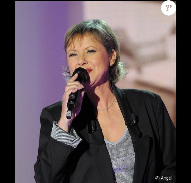 Dorothée (ici lors de l'enregistrement de Vivement Dimanche pour France 2) se produisait sur la scène de Bercy, samedi 18 décembre.