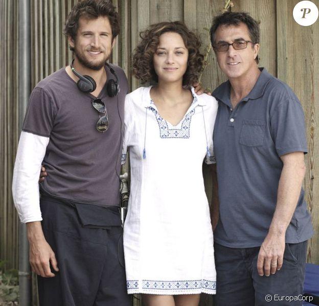 Guillaume Canet, François Cluzet et Marion Cotillard sur le tournage des Petits Mouchoirs