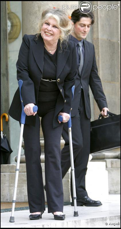 Brigitte Bardot et Christophe Marie, en septembre 2007.