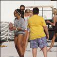 La ravissante Angela Simmons se donne à fond sur la plage de Miami, le 1er janvier 2010.