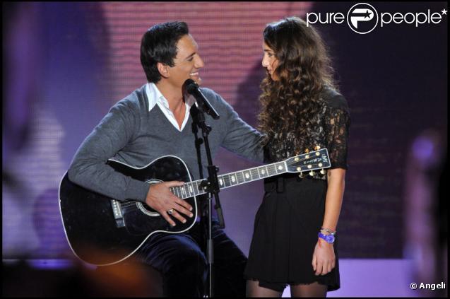 Dany Brillant et sa fille Léah lors de l'émission Vivement Dimanche, diffusée sur France 2 le 9 janvier 2011.