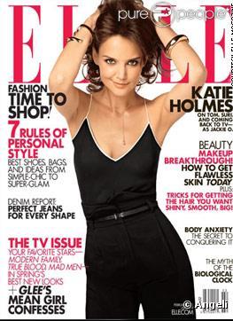 Katie Holmes Divorce 2011 on Katie Holmes En Couverture Du Magazine Elle Us De F  Vrier 2011