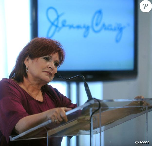 Carrie Fisher présente l'organisation Jenny Craig qui aide à maigrir et dont elle est la porte-parole le 12 janvier 2011 à New York