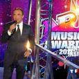 Nikos Aliagas, animateur des NRJ Music Awards 2011, lors de la bande annonce de l'émission, samedi 22 janvier.