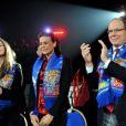 Stéphanie de Monaco, sa fille Pauline et Albert à la seconde soirée du 35 festival international du cirque de Monte-Carlo, le vendredi 21 janvier.