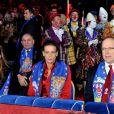 Stéphanie de Monaco, Pauline et Albert à la seconde soirée du 35 festival international du cirque de Monte-Carlo, le vendredi 21 janvier.