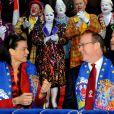 Stéphanie de Monaco et Albert très complices à la seconde soirée du 35 festival international du cirque de Monte-Carlo, le vendredi 21 janvier.