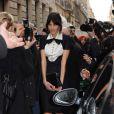 Alexa Chung au défilé Haute-Couture Chanel printemps-été 2011 durant la Fashion Week parisienne, le 25 janvier 2011.