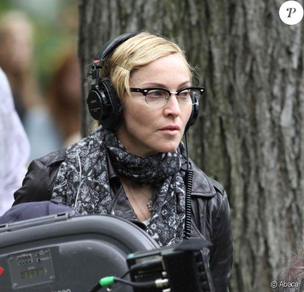 Madonna sur le tournage de W.E., à New York, en septembre 2010.