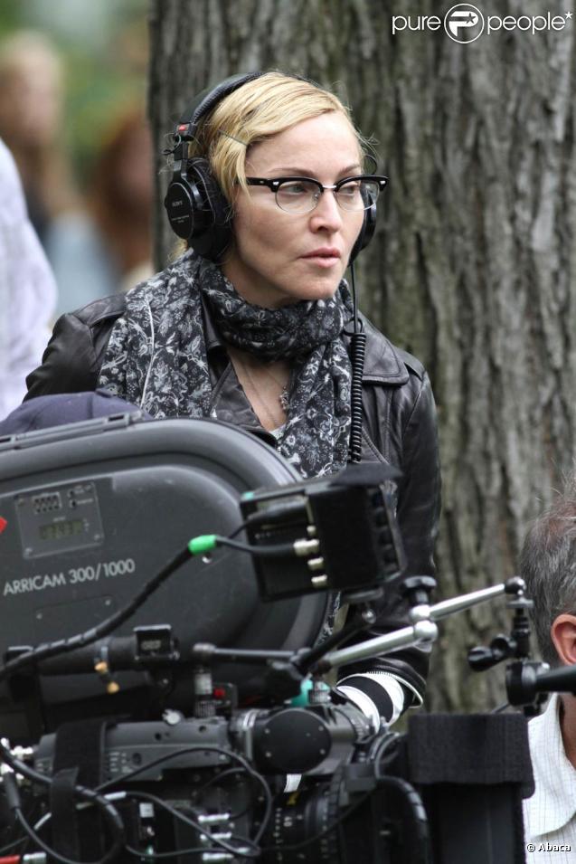 Madonna sur le tournage de  W.E. , à New York, en septembre 2010.
