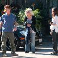 Sean Penn, sa mère Eileen Ryan, et une amie, à Los Angeles le 21 janvier 2011