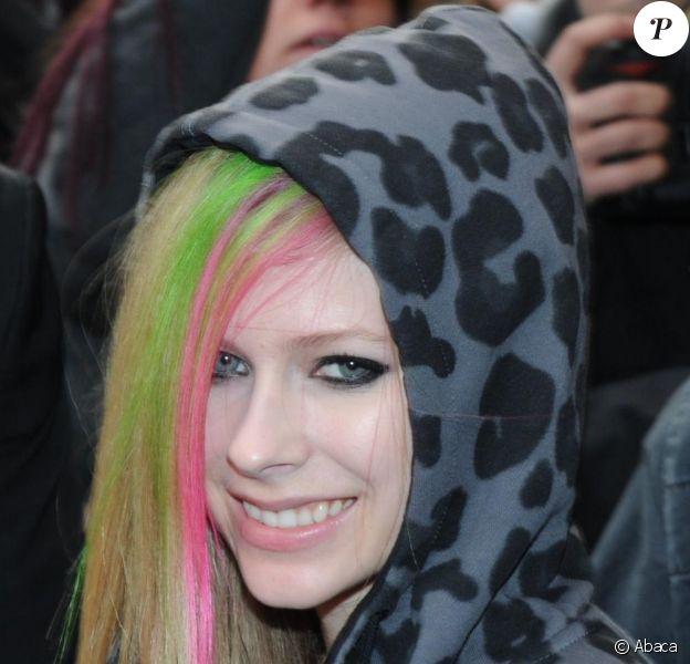 Avril Lavigne était de passage à Paris pour la promo de son nouvel album, le mardi 8 février.