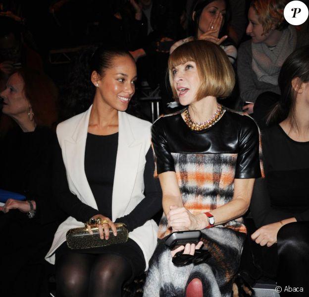 Anna Wintour et Alicia Keys lors du défilé Alexander Wang, à New York, le 11 février 2011