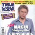 Nagui Gainsbourg en couverture de Tele Cable Sat