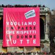 Des centaines de milliers de femmes ont défilé contre Silvio Berlusconi en demandant sa démission, à Rome, le 13 février 2011.