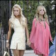 Paris Hilton et Nicole Richie sur le tournage The Simple Life, mars 2007.