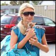 Paris Hilton et son chien à Los Angeles, le 7 novembre 2010.