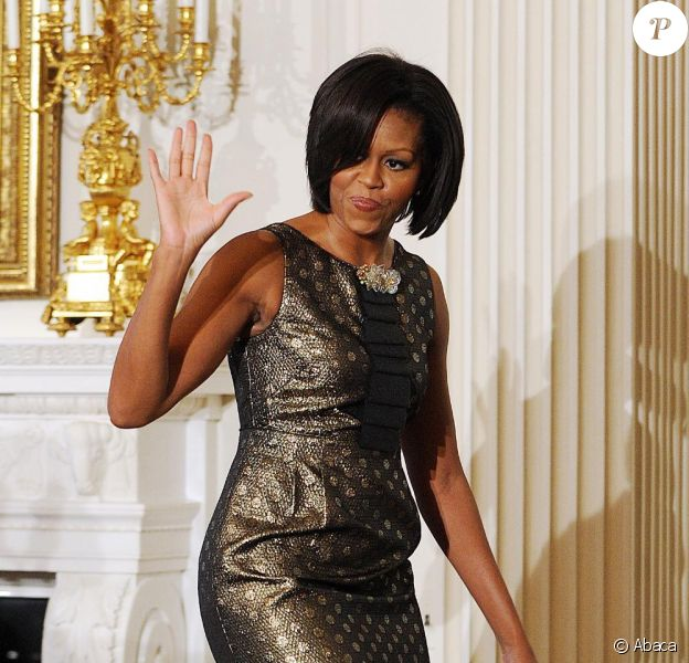Michelle Obama lors du 52e anniversaire de la Motown à la Maison Blanche le 24 février 2011